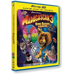 BLU-RAY 3D Madagascar 3 3D